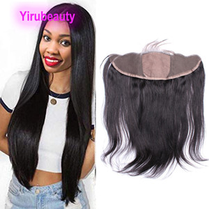 Peruano do cabelo humano 13 * 4 rendas frontal Silk Base de Encerramento Hetero 10-22inch Hair Products 13x4 Silk base frontal com o cabelo do bebê