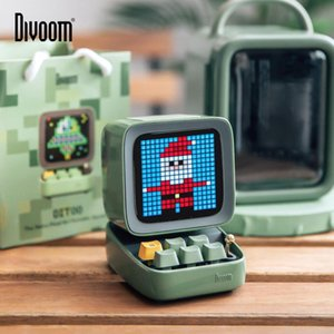 Divoom Ditoo Retro Pixel art Bluetooth altoparlante portatile Alarm Clock Screen LED DIY da APP gadget elettronico regalo Decorazioni
