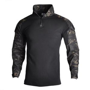 Ejército de Multicam camisas táctico de las Fuerzas Especiales de camuflaje Tops caza al aire libre Senderismo Tactica Camisa de la rana ropa para hombres