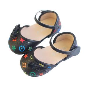 Scarpe per bambini carine scarpe basse per bambini soft baby scarpe PU per bambini bow girls Skid-Proof First Walkers B60