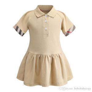 enfants des vêtements de marque Big Kid filles beige à carreaux robe Casual 100% bébé robe de vêtements pour enfants de coton sport fille vêtements B121