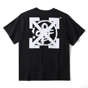 2020 Sydney limited OFF inkjet letters WHITE arrow print men and women couples loose casual short-sleeved t-shirt