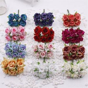 6 Otra Parte festiva Festival de suministros Party Supplies piezas 2 cm de rosas artificiales de seda ramo vestido de novia de la corona de flores del arte de DIY