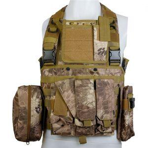 CQC RRV tattici Molle della maglia di assalto di combattimento Chest Rig caccia di Paintball di caccia Polizia Body Armor Vest Highlander