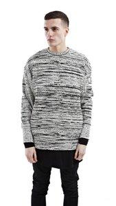 cloth 2019 New Fashion Autumn Composite Material Gradient Stripes Sweatshirts Side Zip Sweatshirts Set Head Hoodies Male