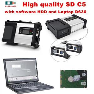 estrelar diagnóstico mb estrela c5 sd c5 + D630 laptop + com profesional DTS Software HDD auto scanner de diagnóstico para benz DHL frete grátis