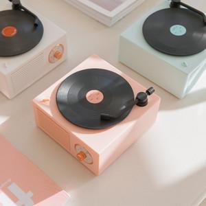 Mini Atom Vinyl Bluetooth Speaker New Creative X10 Bluetooth Audio Wireless Retro Bluetooth Speaker Vinyl Record spersonality