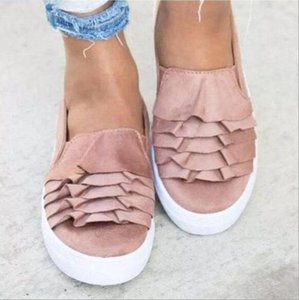 Current2019 Code Will Women's Small White Shoes Shallow Mouth Flat Bottom Wave Lace Single Shoe