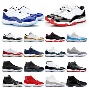 2020 Мужских ботинки баскетбол 11s белого Бреда CONCORD змеиных ВАНТЫ Прохладной СЕРЫЙ GAMMA Легенда СИНИЕ 11 женские спортивные тапки тренеров Открытый