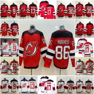 86 camisetas de hockey de Jack Hughes 76 PK Subban Diablos de Nueva Jersey 17 Wayne Simmonds 30 Martin Brodeur 9 Taylor Hall 35 Cory Schneider Hischier