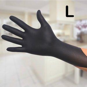 Guantes desechables negros de alta calidad para lavar platos de látex/cocina/trabajo/goma/Guantes de jardín universales para mano izquierda y derecha
