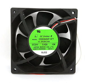 Original Servo CNDC24Z4P-977 DC24V 0.24A 10W 3Lines 120x120x38MM Inverter Proyector Cooling Fan