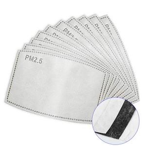 7cm Çocuk Yetişkin Filtre Kağıdı İçin Ağız Karşıtı Toz Haze Karbon Kid 5 Katmanlar Maske Aktif Maske * 200pcs / Lot PM2.5 10 Pad'inizi Filtreler