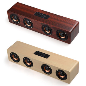Wooden HIFI Bluetooth Speaker Loudspeakers Professhional Speaker Surround Music Player Wood Wireless Speaker for Phone computer