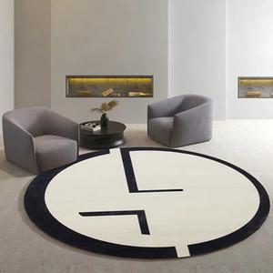 İskandinav geometrik yuvarlak oda halı, dekorasyon salonu halı yaşayan şeklindeki INS popüler makine alan halı dokunan