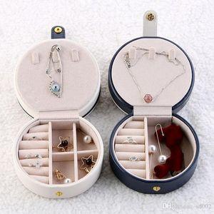 Стержня уха серьга коробка хранения Портативной Творческие путешествий Шкатулка с корпусами Зеркала кольца двухъярусных Съемная 27 9jwC1