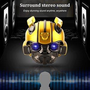 Bumblebee Helm Bluetooth Lautsprecher FM Radio-USB-MP3 TF Smart-Subwoofer Blue Tooth 5.0 tragbare Mini-Wireless-Stereo-Lautsprecher