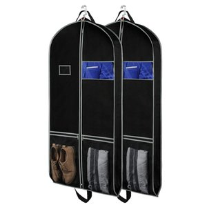 Suitcase Suit Bag Travel-Friendly 54-Inch Breathable Garment Cover with Transparent Window and ID Card Holder for Outfits,Dress