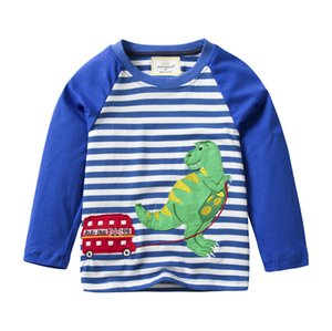 Gold Treasure Childrenswear Autumn New Products KID'S T-shirt Pure Cotton Long-sleeved Upper Garment BOY'S INS Hot Selling