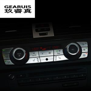 Car Styling Interni Pulsanti Adesivi cover multimediali climatizzatore Pannello CD Trim per BMW E90 serie 3 Accessori auto