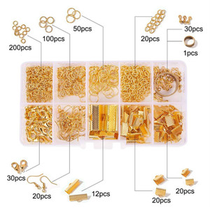 Easy making DIY diamond jewelry spare parts set handmade necklace earing spare parts material pack BE008