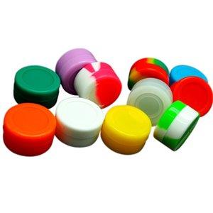 Jar 5ml rotonda del silicone Mini Svuotare Casi Contenitori Dab Cera per Accessories tubo di acqua 1 2BS E1