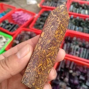 1 قطع الطبيعية الجميلة الذهبي الحرير اليشم الكوارتز الكريستال العصا نقطة الشفاء