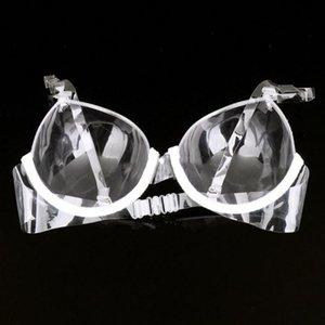 BRA Прозрачный пластиковый одноразовый Невидимый бюстгальтер дамы Невидимый погоны убран без стальное кольцо