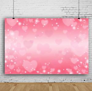 Sonho 7x5ft Dia dos namorados corações rosa backdrop bokeh rosa fotografia de fundo para comemorar festa foto shoot studio studio