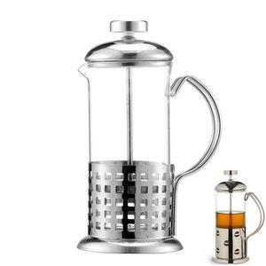 Manuel café Machine à espresso Pot Français filtre Thé Percolateur verre en acier inoxydable Teapot Cafetiere presse Plongeur 350ml