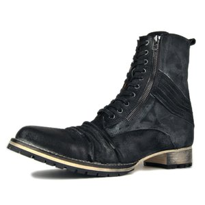 Handmade Boots Military Autumn Zipper Boot Genuine Leather Boots Ankle Martin Boots Designer Leather Shoes footwear
