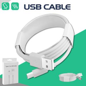 Cable USB USB de alta velocidad C Tipo C de sincronización de datos de carga Cuerdas para Samsung LG Huawei Moto universal del teléfono celular con Box