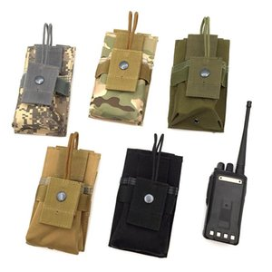 Tactical Walkie Talkie Pouch Bag Outdoor Tactical MOLLE Radio Holder M4 Mag Pouch para la caza