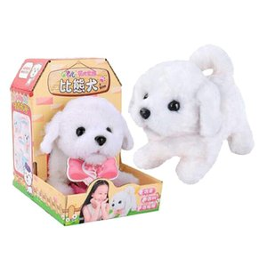 Electronic Simulation Plush Dog Walking Barking Doll Early Learning Educational Toys Birthday Gift for Children Kids Toddler