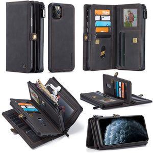 cajas del teléfono del diseñador para el iPhone 11 tarjeteros caja del teléfono de caja ranuras cartera iphone magnética desmontable 11 caja del teléfono Designer Pro máximo