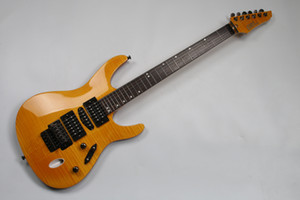 electric guitar six string orange guitar,HSH pickup Ash body,Maple neck,rosewood fretboard,24 frets,black hardware
