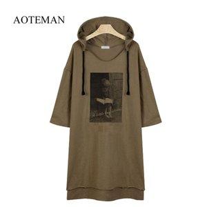 AOTEMAN 2019 Lässige Herbst Winter Frauen Sweatshirt Print Floral Warme Lose Hoodies Sweatshirt Langarm BF Top Plus Größe 5XL T5190612