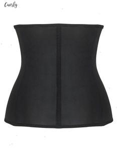 Firm Waist Trainer Fashion Women Zipper Body Shaper Zipper Up Shapewear Solid Black Corset Girdle Slimming Belt