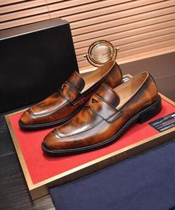 [Orignal Kutusu] Lüks Yeni Erkek Business Suit deri resmi Kayma-On Gentleman Modu Gelinlik Moda Ayakkabılar Boyutu 38-45 Tops