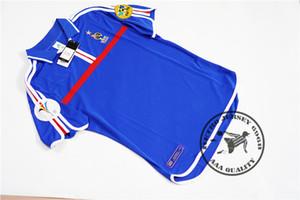 Free shipping 2000 zidane henry trezeguet candela djorkaeff vintage soccer jersey