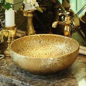 Casa de banho lavabo lavatório cerâmico balcão lavatório pintado à mão navio afundar cavalo vintage cerâmica pia do banheiro