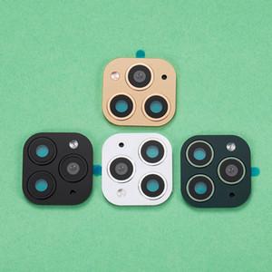 10pcs caméra métal lentille secondes Changement pour iPhone 11 Pro Max Glass bague de protection pour iPhone X XS MAX Sticker Caméra Faux