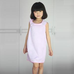 Soft Wearable 7 Colors Children Magic Bath Towels Shower Towel Body Wrap Bath Bathrobe Dress Girls Wearable Magic Towels DH0543 T03