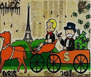 Alec Monopoly Urban wall art Money Horses Home Decor Handcrafts  HD Print Oil Painting On Canvas Wall Art Picture 1075