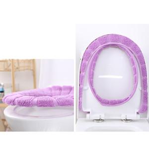 Velvette lavable salle de bain Tapis de toilette toilette couvercle couvercle tampon chauffant, couleurs solides