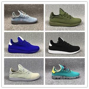 Adidas Tennis HU 2018 Sıcak Satış Pharrell Williams Sneaker Borulu Gölge Runner spor ayakkabı BB74 Ayakkabı Koşu Stan Smith Tenis HU Primeknit erkeklerin kadınları x