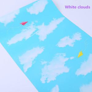 Papier peint grille carrée auto-adhésive Beaux enfants simple PVC imperméable sticker mural chambre salon mur rénovation papier peint 45CM