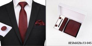New fashion pattern tie men 8cm silk tie suit men wedding formal occasion handkerchief cufflinks 3 piece set