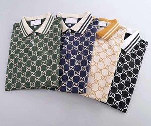 neue 20ss Herren-Markendesigner kurze Ärmel Polohemden meistverkauften Luxus Medusa Bienendruckkleid der Männer beiläufige klassische Revers-Polohemden FF