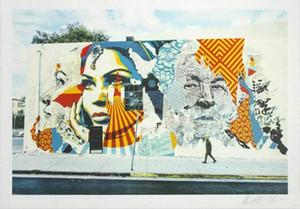Amerikan Dreamers Shepard Fairey Tuval Wall Art Pictures 200.530 tarihinde Vhils Obey Ev Dekorasyonu Handpainted Petrol Resim Sergisi x